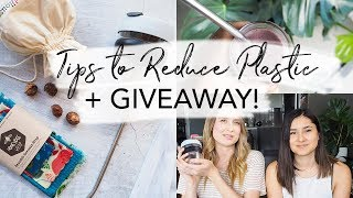 5 Tips to Reduce Plastic Use + GIVEAWAY | Plastic Free July