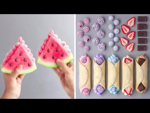 how-to-make-the-best-ever-watermelon-cake-for-party-|-so-yummy-cake-decorating-ideas