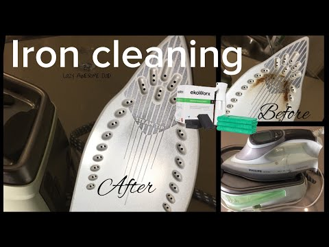 How I clean steam iron bottom plate with KOH / ekoWorx  eco-friendly cleaning product cleanedbykoh