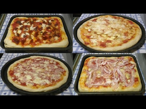 Come fare la pizza in casa, leggera altissima digeribilità - Recipe Italian pizza
