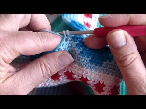 tutorial mochila crochet (yarn under)