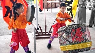 LION DANCE DRUMMING - Youngest Drummer Gong and Cymbals formed by Children thumbnail
