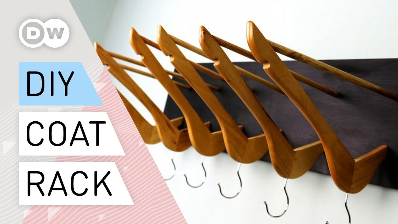 Diy Coat Rack Out Of Clothes Hangers Youtube
