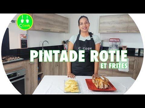 RECETTE FACILE : PINTADE RÔTIE ET FRITES | Sabrina De C COOK 🇲🇺