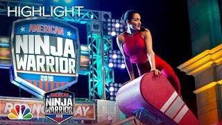 Nikki Bella's Ninja Warrior Run for Red Nose Day - American Ninja Warrior 2018