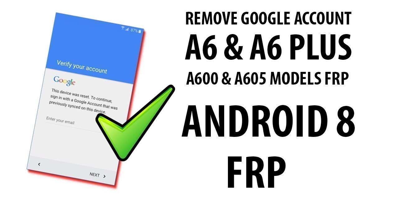 Bypass/Remove FRP Google Account Lock Samsung Galaxy A8 Star