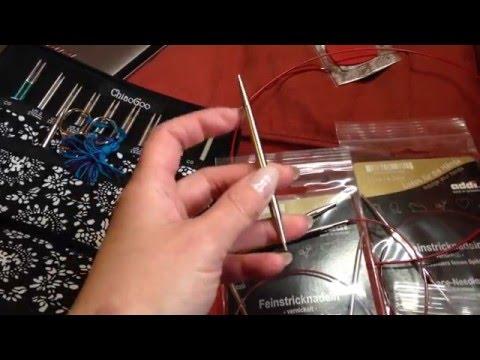 Спицы Addi lace, тросы Chiaogoo; обзор и сравнение