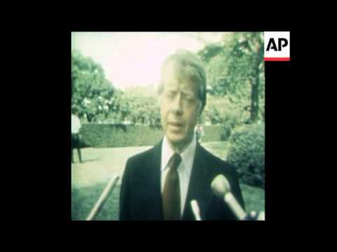 SYND 9 9 77 US PRESIDENT CARTER GIVES PRESS CONFERENCE ON THE PANAMA CANAL TREATY