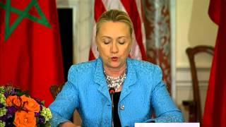 Secretary Clinton Delivers Remarks at the U.S.- Morocco Strategic Dialogue