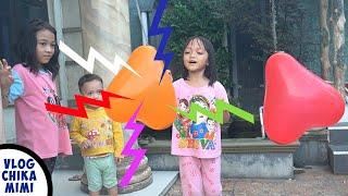 Bermain Pecah Balon Berhadiah Es Krim Sambil Belajar Warna  Balloons Surprise Ice Cream Learn Color
