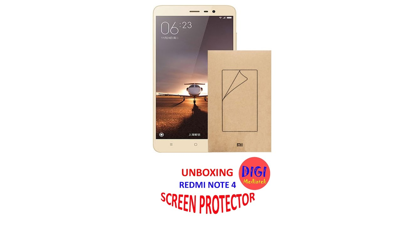 Redmi Note 4 Unboxing: Redmi Note 4 Screen Protector Unboxing