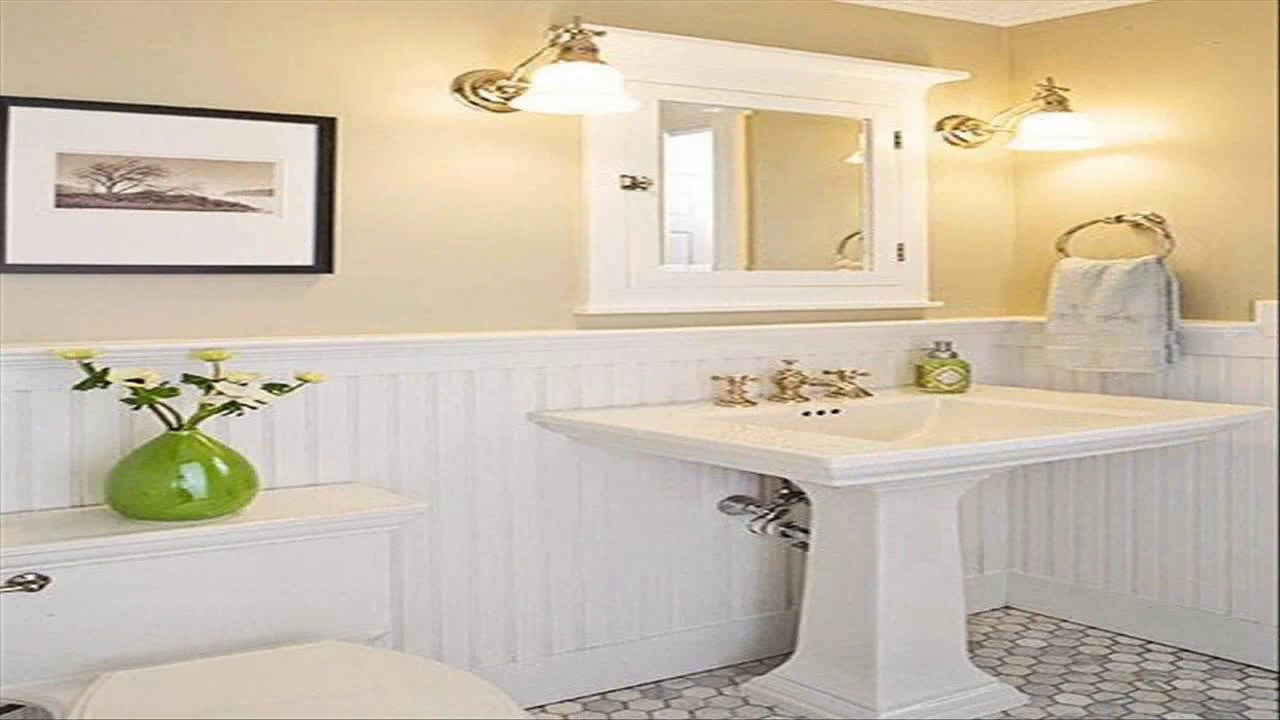 Small Bathroom Ideas With Beadboard Youtube