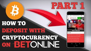 How to Deposit with Cryptocurrency on BetOnline Tutorial - Part 1