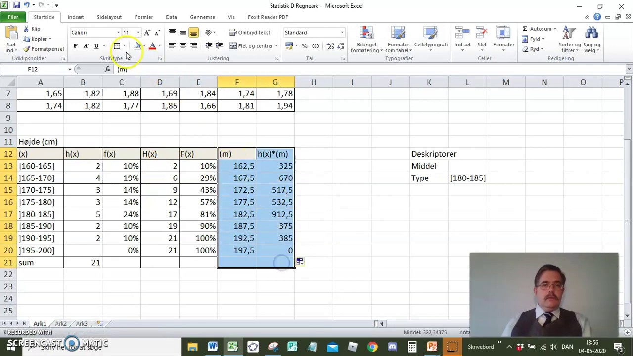 Regneark Grupperet Statistik