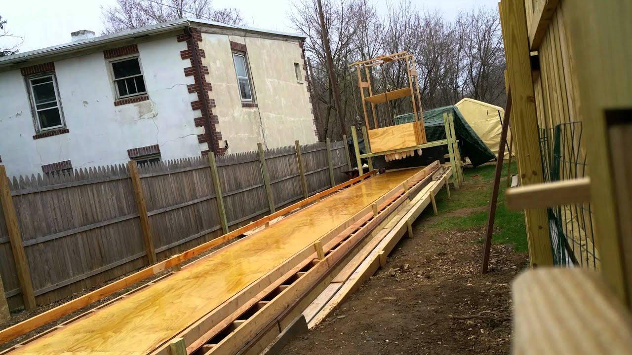 Bowling Alley Construction : Backyard bowling construction youtube