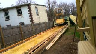 Backyard bowling construction Video
