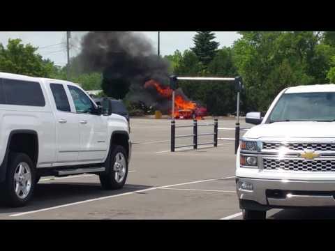 Car Fire At Home Depot Hill Rd Flint 6-22-16