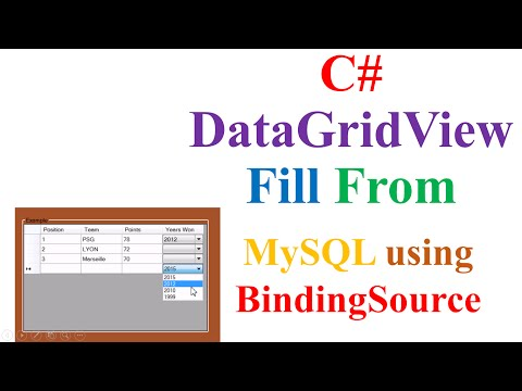 C# DataGridView -  Fill With MySQL Data Using Binding Source