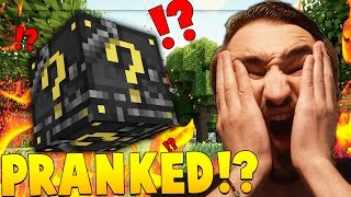 GOD MODE *PRANK* SKYWARS LUCKY BLOCK CHALLENGE! Minecraft - Lucky Block Mod