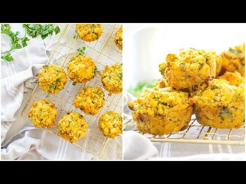 Individual Vegan Thanksgiving Stuffing Muffins | This Savory Vegan