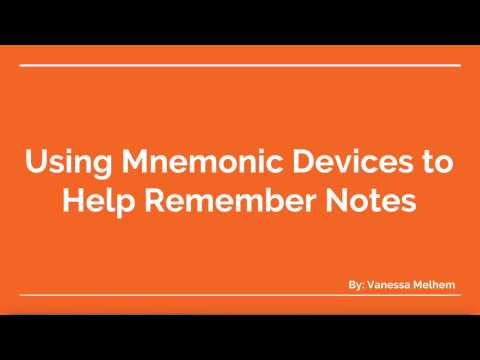 Using Mnemonic Devices to Help Remember Notes