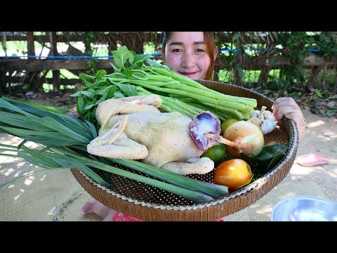 Yummy Chicken Cooking Vegetable Recipe – Chicken Frying – Cooking With Sros