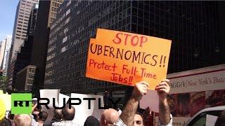 Таксисты Нью-Йорка протестуют против Uber(, 2015-09-17T10:31:47.000Z)