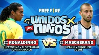 UNIDOS X LOS NIÑOS🛫✨ - ⚽ Ronaldinho v.s. Mascherano ⚽ EN VIVO 🔴