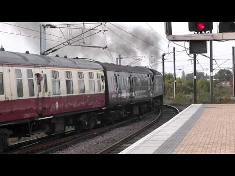 (HD) DRS 47828 and 47802 on 1Z65 Cruise Saver Express departs York 23/10/2011