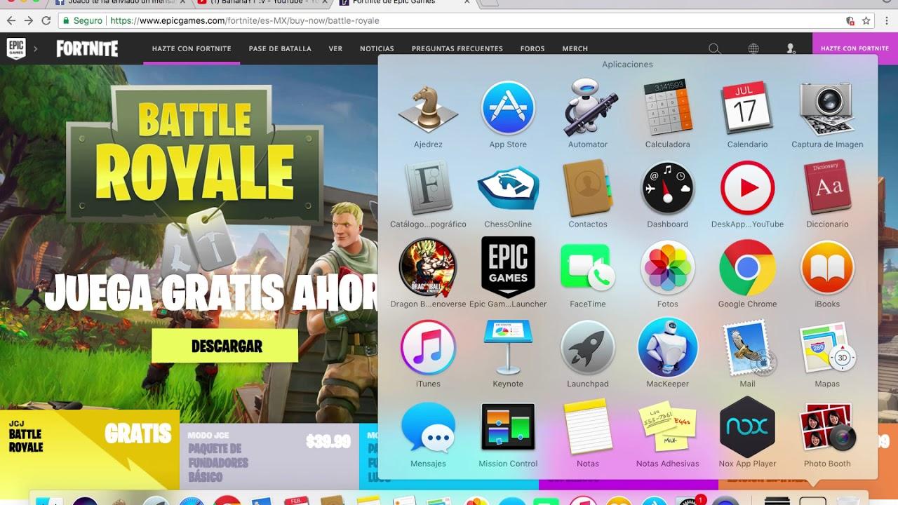 Como Descargar Fortnite Para Mac Pc Youtube