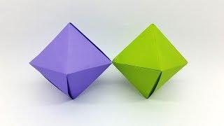 Origami Octahedron Decoration Box Making Tutorial - Easy DIY Crafts