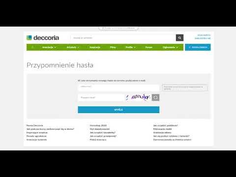 Nowa Deccoria.pl - co robić, gdy zapomnę hasła?