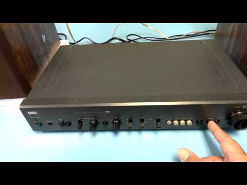 NAD 1300 Pre Amp test two, Pioneer PL-518 - YouTube