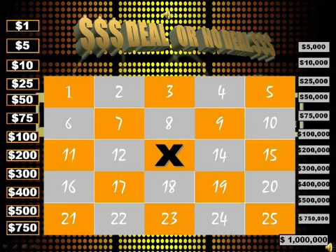 free deal or no deal powerpoint game - youtube, Modern powerpoint