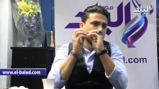 بالفيديو.. هيثم سعيد يغنى 'هما مالهم بينا ياليل' فى ندوة صدى البلد