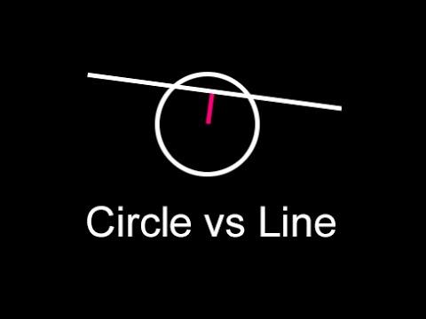 Intersection Between Line and Circle   2D Segment Collision Algorithm   Java, JavaScript, C#, C++