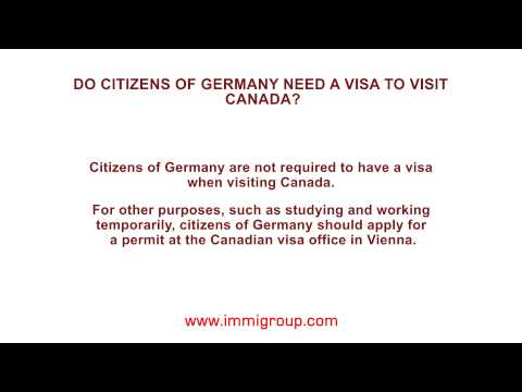 Do citizens of Germany need a visa to visit Canada?