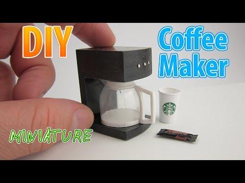 DIY Realistic Miniature Coffee Maker | DollHouse | No Polymer Clay!