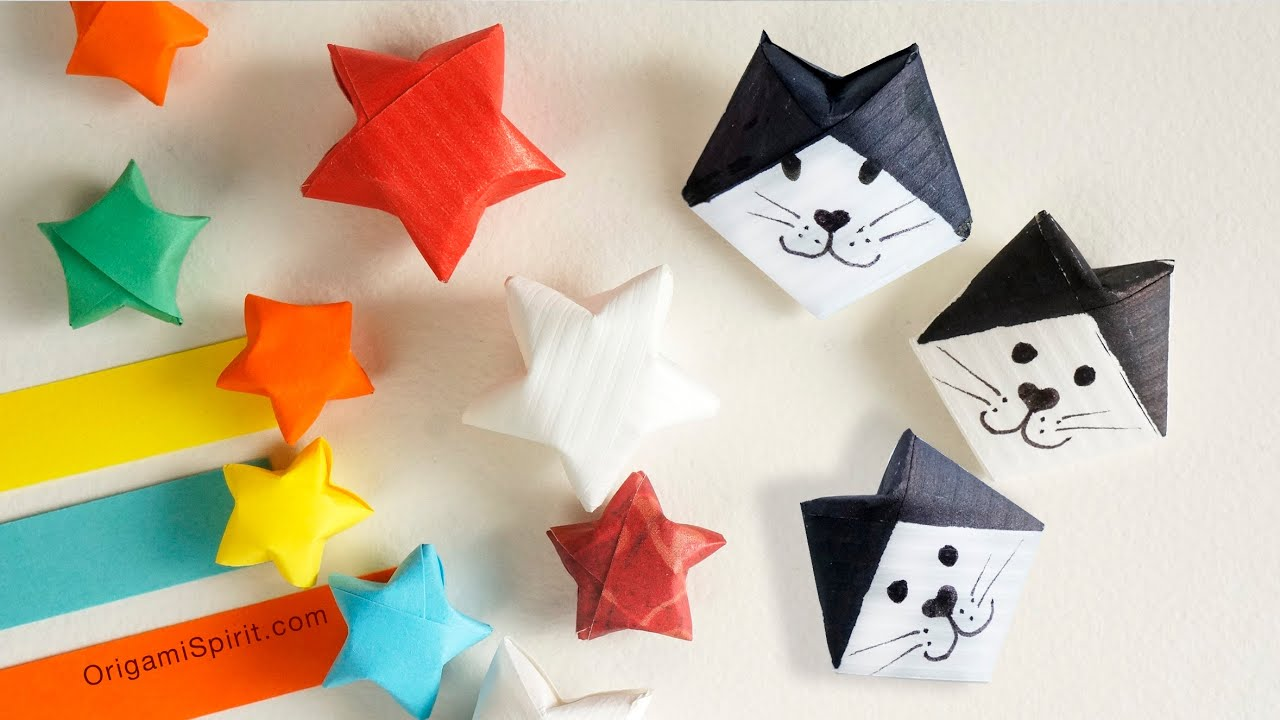 How to make a lucky star and a lucky cat estrella y gato youtube jeuxipadfo Choice Image