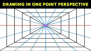 how to draw using 1 point perspective   one point perspective drawing tutorial for kids