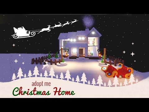 Adopt Me Christmas House Adopt Me Glitch Build Adopt Me House Tour Youtube