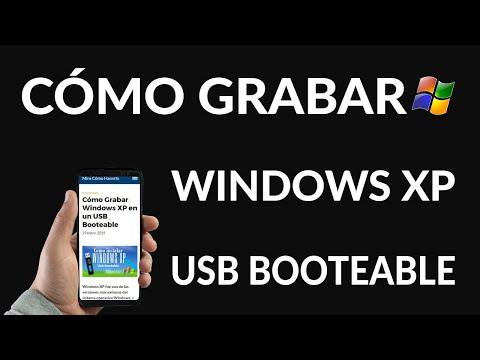 Cómo Crear USB Booteable con Windows XP