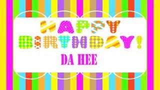 DaHee   Wishes & Mensajes - Happy Birthday