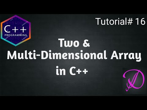 Two and Multi dimensional Array in C++ with example(English) | Programming With Danish