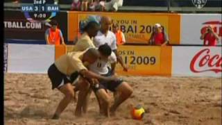 usa vs bahamas 2009 concacaf beach soccer championship world cup qualifiers highlights 6 2