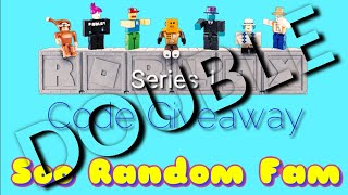 "Roblox Toys Series 1 ""Double Code Giveaway"" Opening Unboxing Toy 