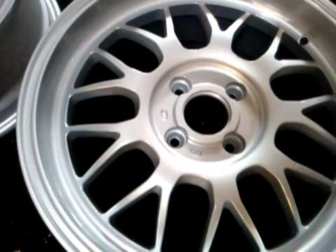 """Mazda 3 Custom >> Freshly powder coated silver 16"""" supamesh wheels - YouTube"""