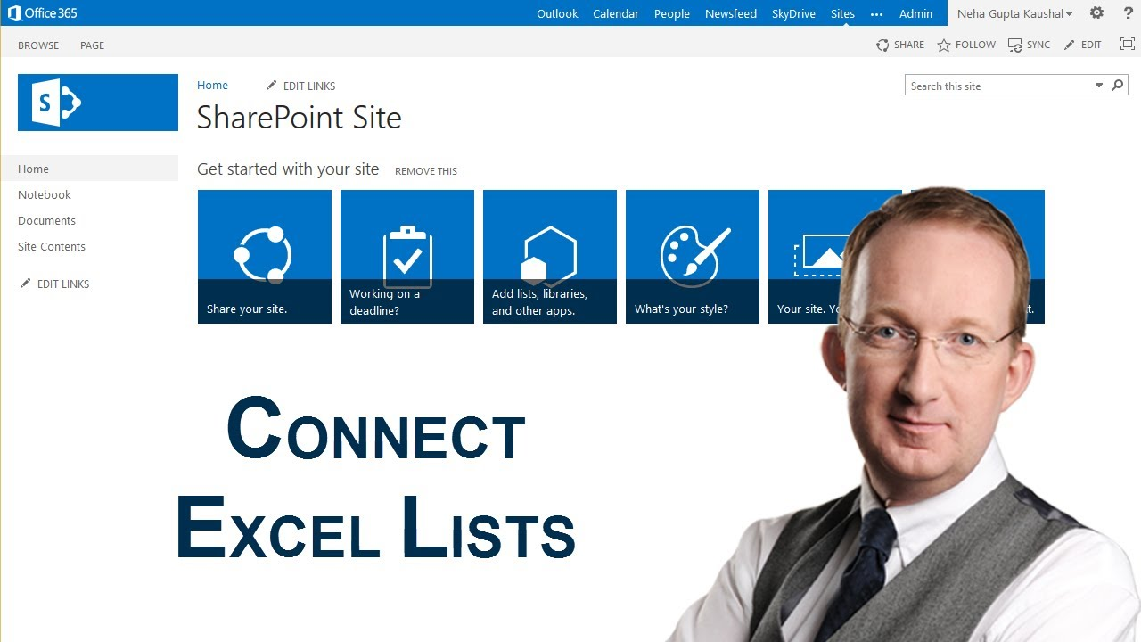 Use Sharepoint App Parts To Connect Excel Lists In