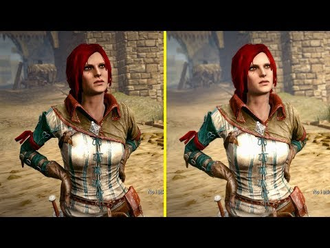 Сравнение режима производительности с режимом улучшенной графики в Witcher 2 на Xbox One X