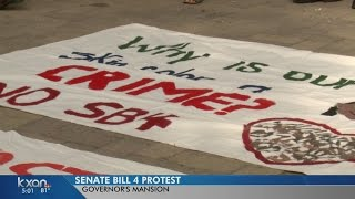 More protests held in front of Governor's Mansion as SB 4 becomes law